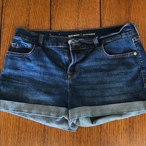 Old navy boyfriend jean shorts 6 EUC